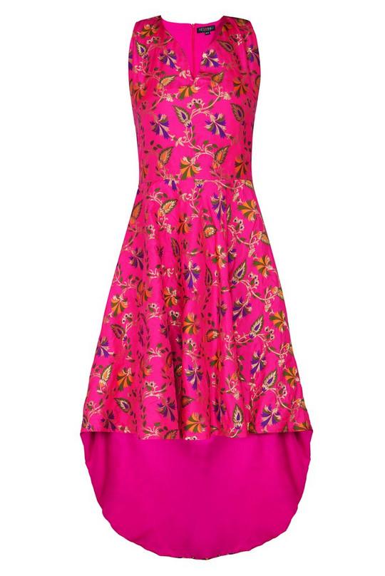 High & Low Prom Maxi Pink From Nesavaali London