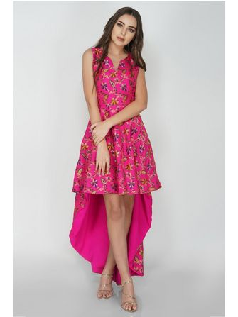 High & Low Prom Maxi Pink From Nesavaali London - Frk. Fie