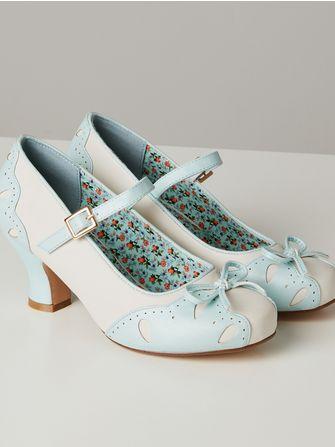 Joe Browns Tea and Cakes vintage shoes - Frk. Fie