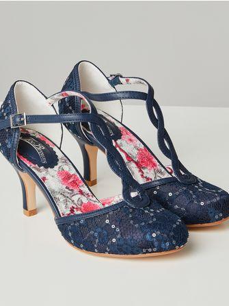 Joe Browns Moonlit Lace T-bar shoes - Frk. Fie