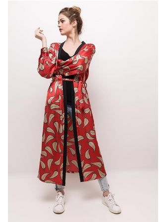 Kikki Paris kimono rød. - Frk. Fie